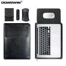 DOWSWIN Case for Macbook Air 13 11 Pro 13 15 Case For Laptop Bag Sleeve Leather Notebook Bag for Macbook Pro Case Waterproof(China)