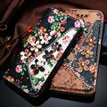 Kisscase leather flip case para iphone 7 7 plus luxo flor patter fold wallet saco do telefone case capa para apple iphone 7 plus nova
