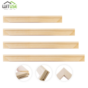 2x Wood Stretcher Strip Bar Frame For Canvas Painting Art Gallery Wrapped Painting Frame(Need 4pcs to Be a Wooden Canvas Frame)