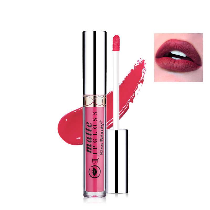 12 couleurs Ultra mat liquide rouge à lèvres imperméable à l'eau teinté rouge à lèvres Sexy Pigments lèvre tatouage peinture longue durée brillant à lèvres rouge nu