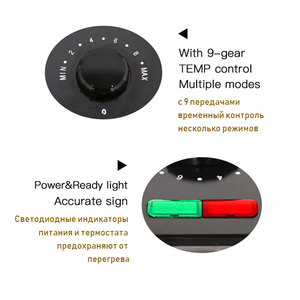 Image 5 - מנגל גריל ביתי מכשירי מטבח ברביקיו מכונה גריל חשמלי פלטה חשמלית עישון בגריל בשר במחבת גריל מגע Sonifer