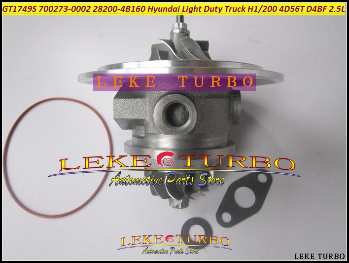 Turbo Cartridge CHRA GT1749S 700273 700273-5001S 700273-5002S 28200-4B151 For HYUNDAI Van Light Duty Truck H100 4D56T D4BF 2.5L free ship turbo cartridge chra core gt1749s 715843 5001s 28200 42600 for hyundai starex h1 h200 2 5l d4bh 4d56 tci turbocharger
