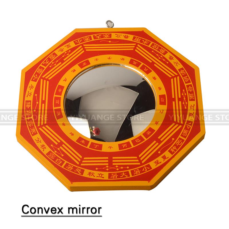 feng shui bagua convexa cncava de madera espejo de pared que cuelga los hexagramas espejo