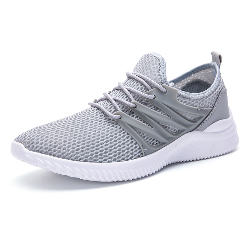 Tennis-Shoes Athletic-Trainers Walking-Sneakers Sports New Outdoor Men Lace-Up Four-Seasons