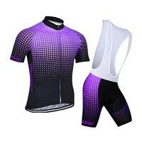 DICHSKI Men Summer 4D Gel Pad Cycling Jersey Short Sleeve Cycling Sets Outdoor Sport MoisturePerspiration Wear