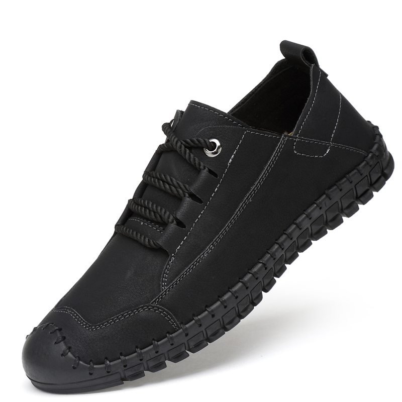 Men's Genuine Leather Casual Sneakers Slip On Shoes Trend Soft Footwear Male Krasovki Man Tenis Masculino Adulto Plus Size 38-46