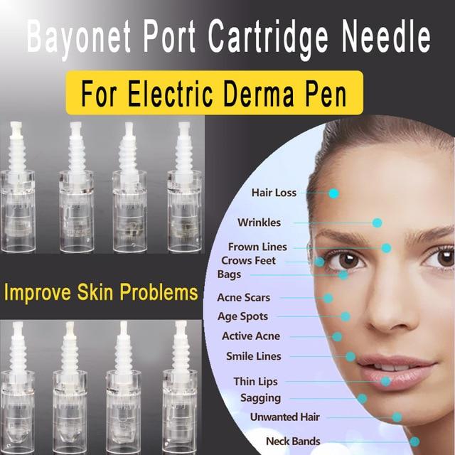 100pcs/lot Mezoroller Bayonet Cartridge Replacement For Derma Pen Micro needle 9 pin / 12 pin / 36 pin / nano Micro Nano Needle