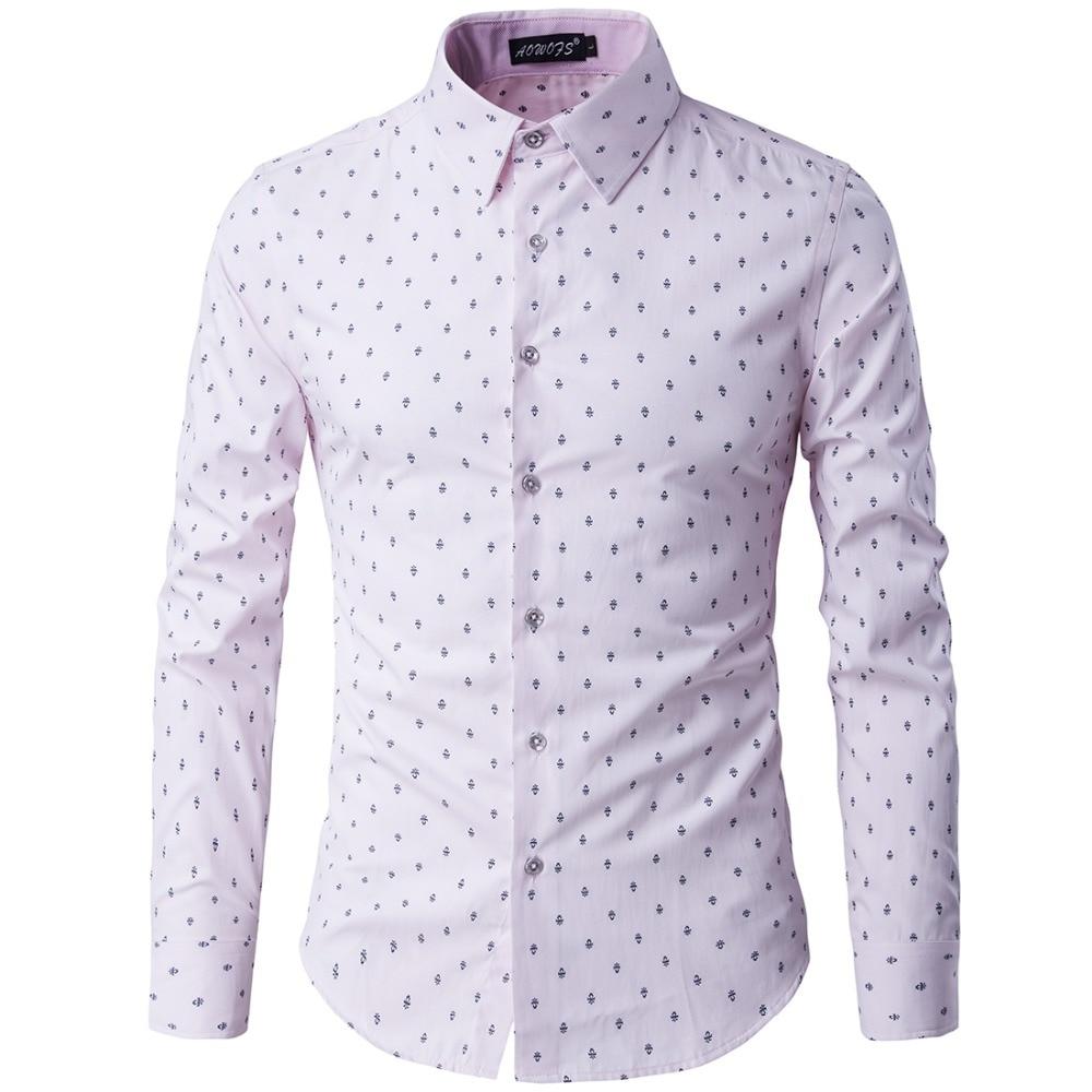 Good quality men light color dress shirts autumn new for Good mens dress shirts
