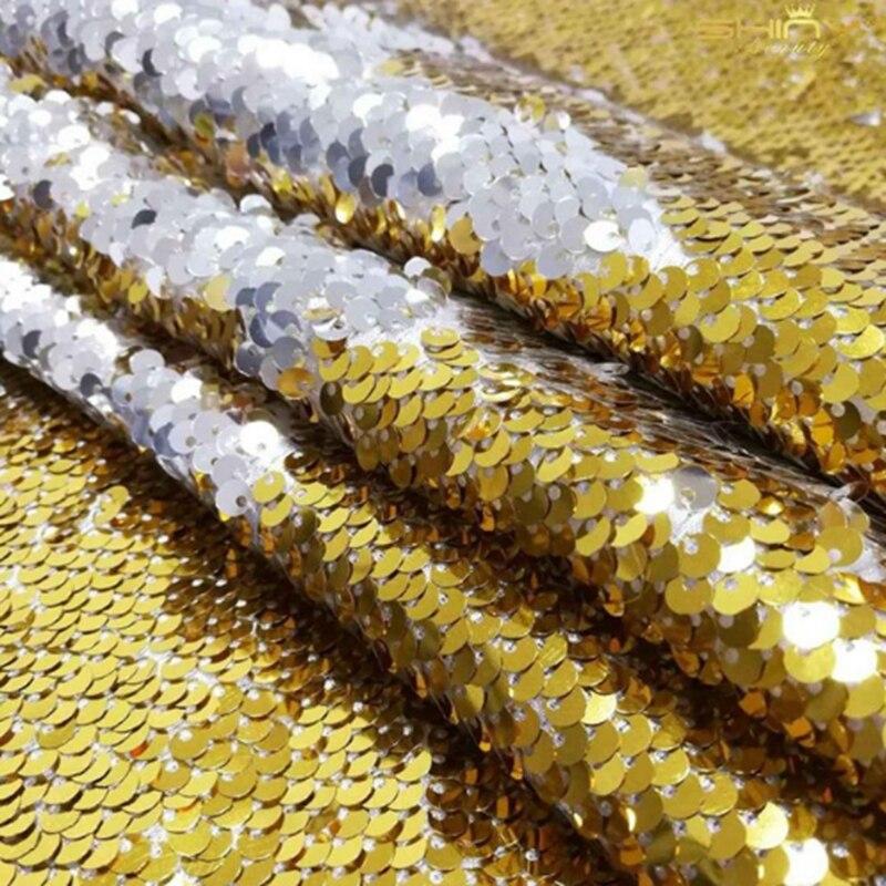 ShinyBeauty Rouge et Argent Sequin Parti Toile de Fond, 8X9FT Foncé Rouge Sirène Poissons Échelle Sequin Tissu/Photographie-C