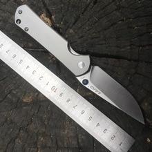 Земля 812 Карманный складной титановый нож VG10 лезвием Открытый Отдых выживания охоты тактический инструмент EDC Ограниченная серия