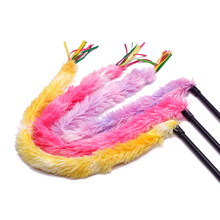Cats Toys Colored Peacock Velvet Tease Cat Sticks  Best Selling Pet Supplies  Cat Supplies  Interactive Cat Toy  Cat Plush ydl p4002 r plush blanket for pet cat gog red multi colored