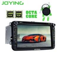 Joying 2Din Android 8.0 1024*600 Car Stereo Radio GPS Navigation Player For VW Skoda POLO GOLF PASSAT B7 B5 seat leon Head Unit
