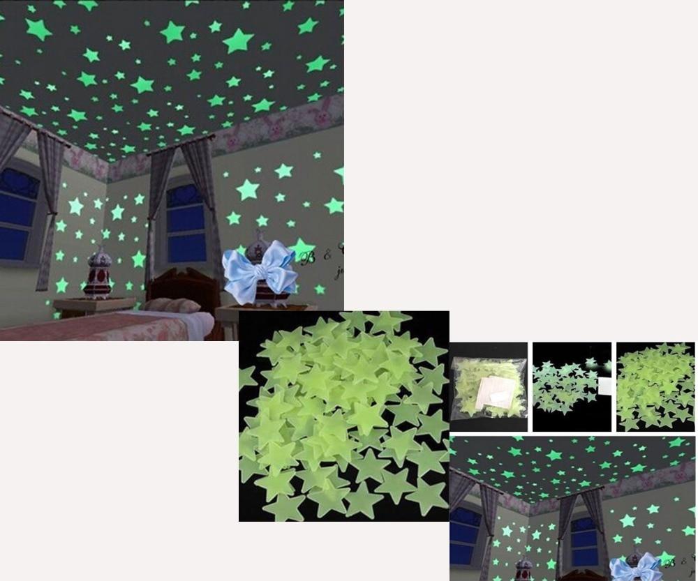 Glow In The Dark StarsWall Stickers Decal Luminous