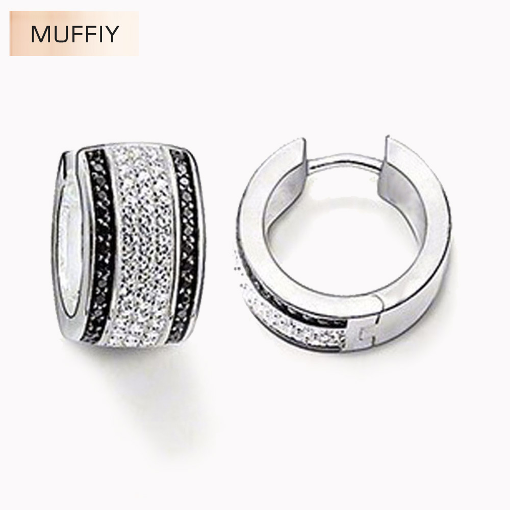Creole Hinged Hoop Earrings,thomas Style Glam Fashion Good Jewerly For  Women,2017 Ts Gift In 925 Sterling Silver,super Deals