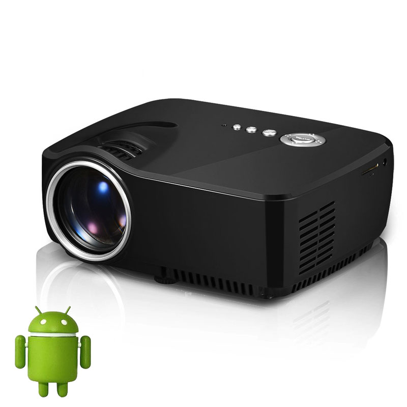 portable pocket android 4 4 smart projector mini led wireless projectors bluetooth wifi led 3d. Black Bedroom Furniture Sets. Home Design Ideas