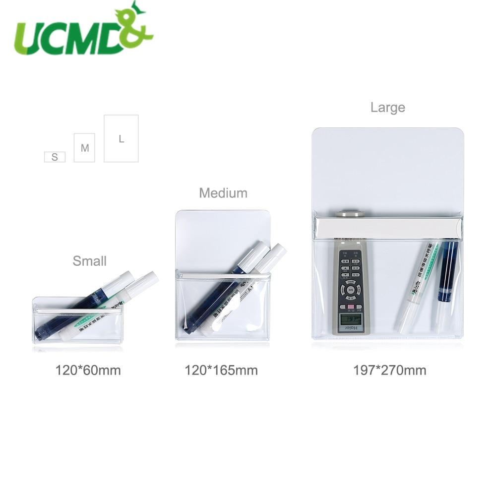 Magnetic Plastic Bag Hanging Fridge Magnet Save Space Home Kitchen Tool Organizer Rack Office Supplies Pen Storage Box