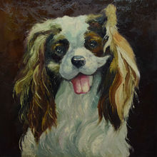 HandPainted Thick Knife Animal Wall Oil Painting on Canvas Modern Abctract Dog Canvas Painting Wall Art  Picture for Living Room
