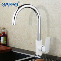 Gappo Elegant Style Sink Mounted Kitchen Faucet Single Handle PVD Mirror Plating Chrome Finished G4048