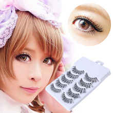 5 Pairs Makeup Handmade Natural Fashion Long False Eyelashes Extension Eyebrows Fake Eye Lashes Beauty cilios F1