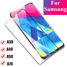 Tempered Glass for samsung A30 A40 Screen Protector On the For Samsung A50 A70 J3 Full Cover 3D HD Clarity Protective Glass Film(China)