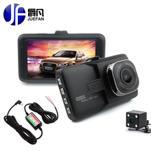 Cheapest prices JUEFAN 2017 Newest Mini car dvr camera Full HD 1080P Dual Lens Video Recorder 24H parking monitoring G-Sensor Dash Cam car dvrs