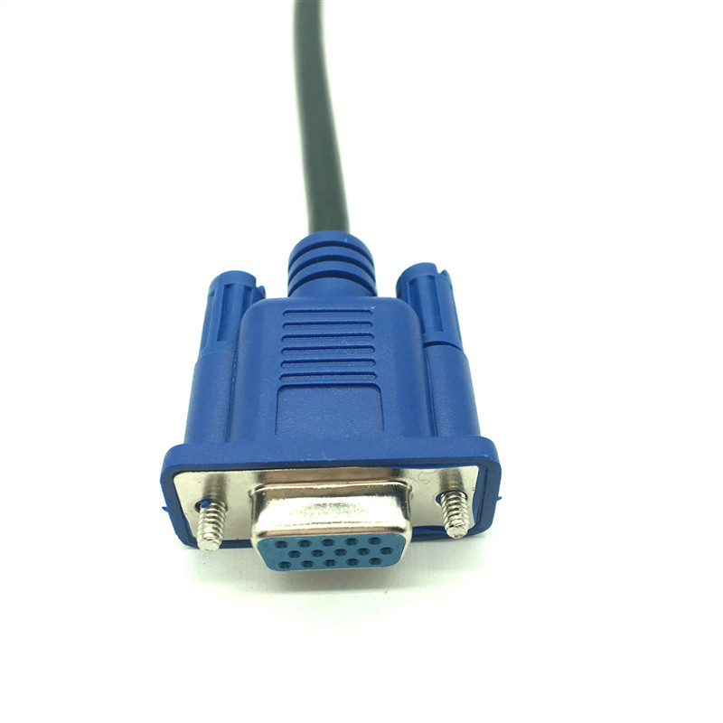 0.5M VGA Male to Male Cable SVGA Monitor Cord Blue Plug for PC Computer lot