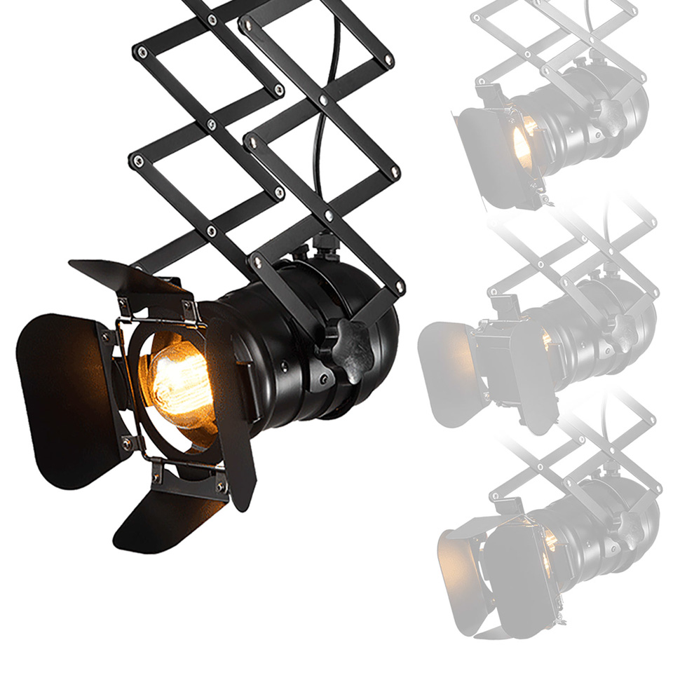 Industrial Black Iron Ceiling Lamp E27 Bulbs Indoor Absorb Dome Light for Living Room Bedrooms Bar
