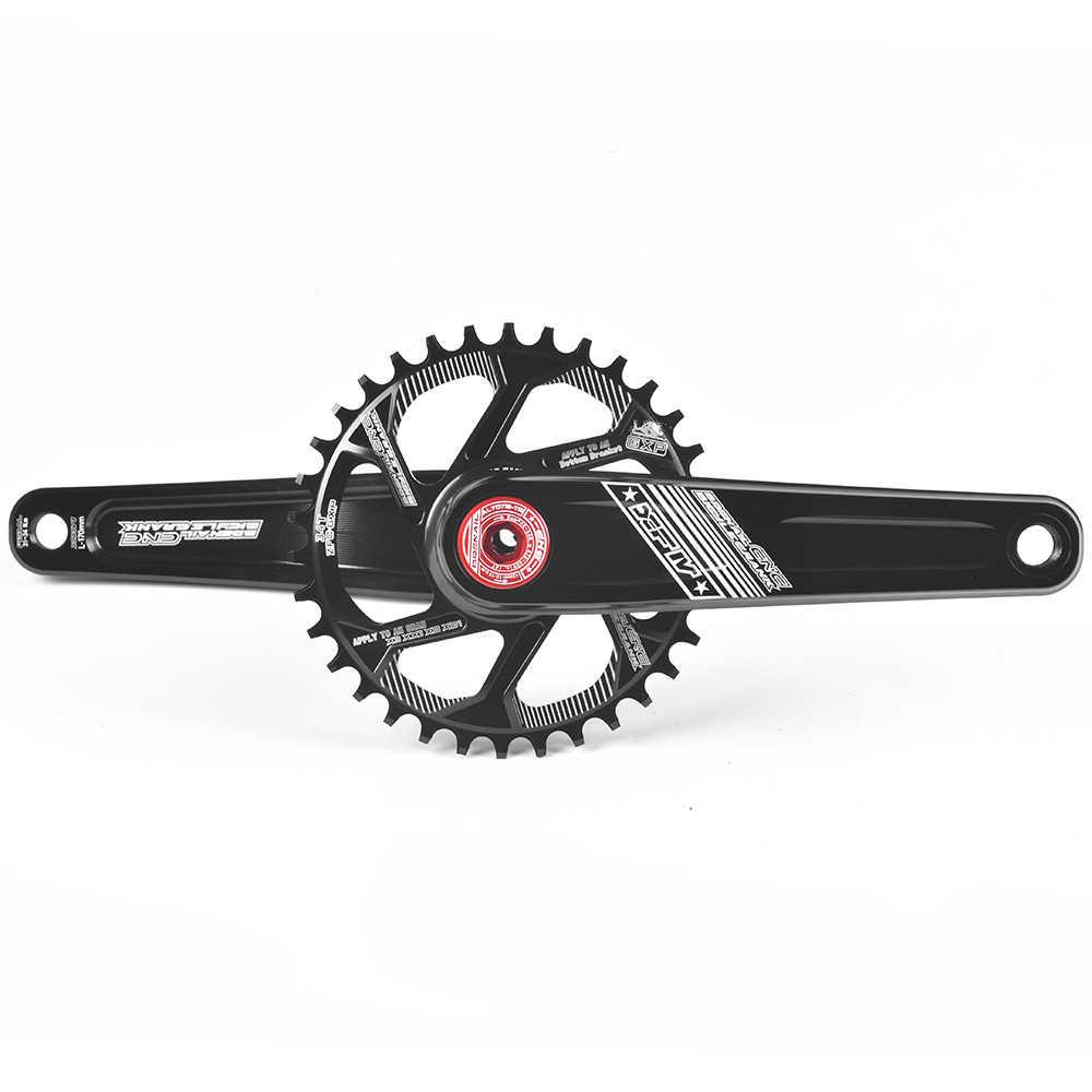Рукоятка для велосипеда комплект передач MTB шатун для горного велосипеда алюминиевый велосипедный Кривошип набор звездочек и Нижний Кронштейн 170 мм