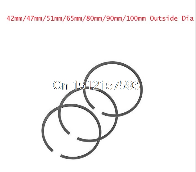 FREE SHIPPING 1set 42mm/47mm/51mm/65mm/80mm/90mm/100mm Outside Dia Piston Rings Set for Air Compressor changchai 4l68 engine parts the set of piston piston rings piston pins