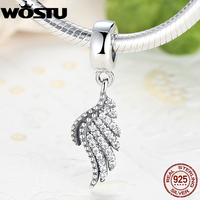 Top Quality Real 925 Sterling Silver Majestic Feather Charms Bead Fit Original Pandora Bracelet Pendant Authentic