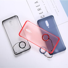 No border Oneplus 7T Pro case Ultra thin Matte No fingerprint No Bumper design to Curved phone Back Cover 1+7T Original feel(China)