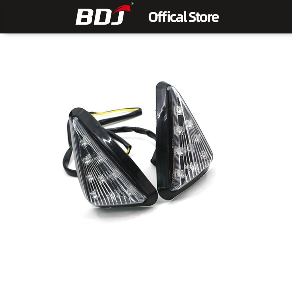 BDJ Universal Motorcycle Turn Signal Indicators Light Turning Lamp LED Moto Accessories For Yamaha Kawasaki Honda Suzuki