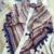 2016 hot sale da moda mulher 110*110 cm Lenço de linho de algodão lenços quadrados curto borla padrão Geométrico Mulheres Inverno xales senhora