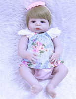 DollMai 23 bebes reborn full silicone reborn baby dolls girl body fake baby real dolls blue/brown eyes baby reborn bonecas