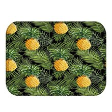 Tropical Rainfores Green Leaves Welcome Doormat