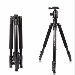 HolaFoto T1 62 Inch Portable Aluminum Alloy Tripod With 360 Panorama Ball head &1/4 Quick Release Plate for DSLR Cameras