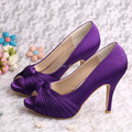 Wedopus Dropship Party Shoes Purple Platform Dress Wedding Shoes for Women High Heel