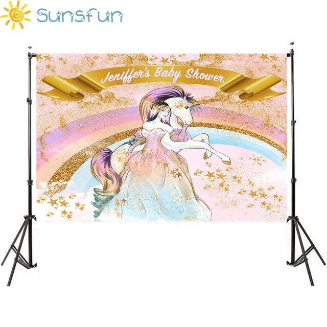 sunsfun 7x5ft colorful rainbow ouro estrelas show de bebê crianças