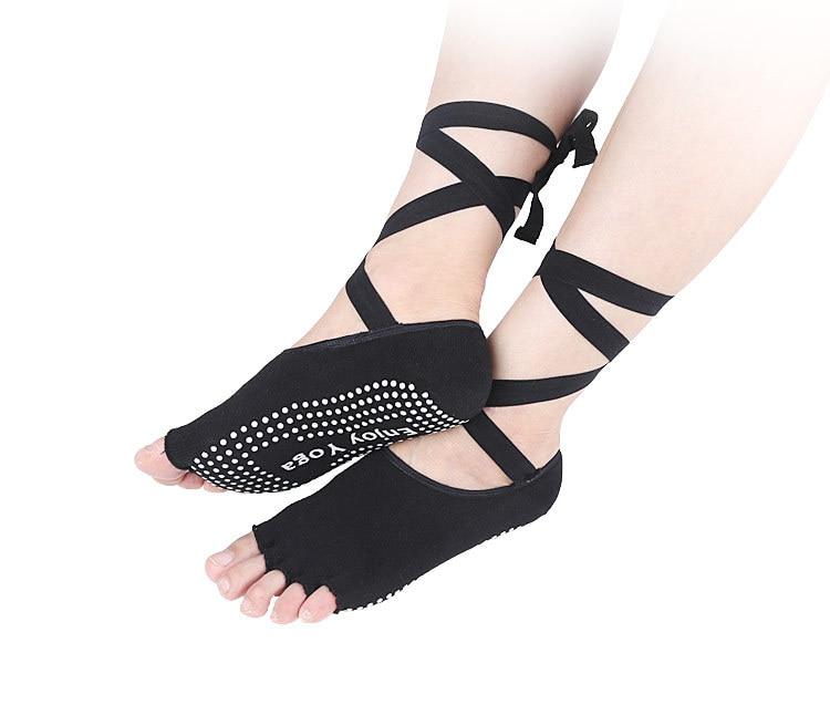 Women Sport Yoga 5 Toes Socks Exercise Massage Cotton Pilates Anti-slip Sock New