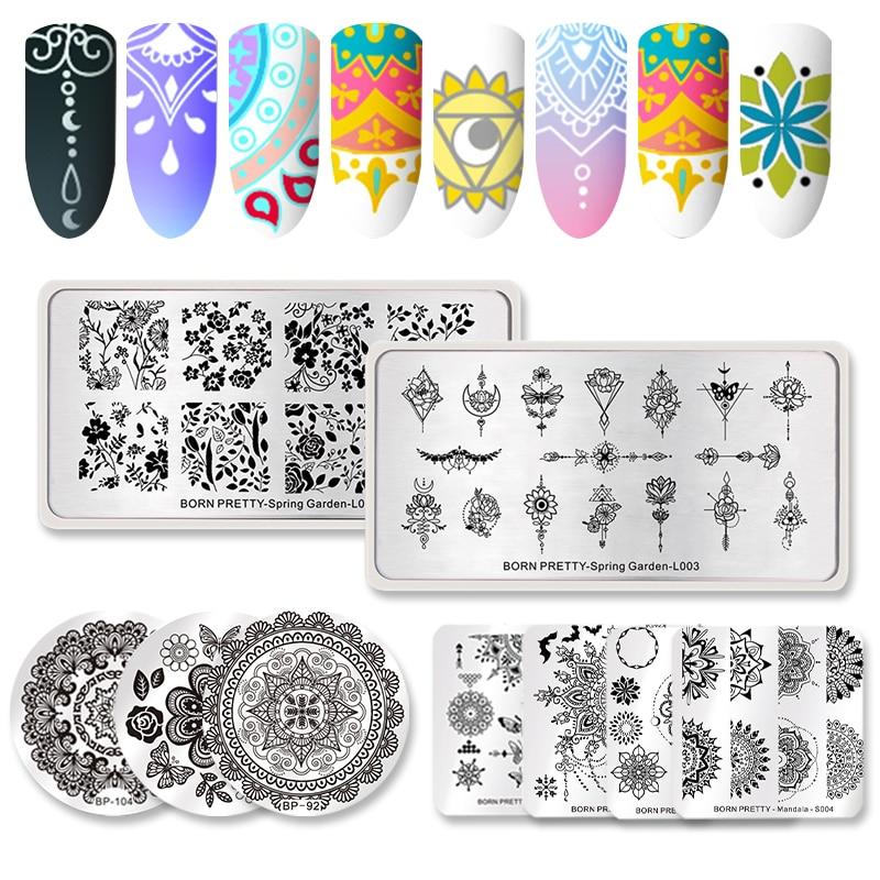 Geometric Reverse Stamping Nail Art Born Pretty Review: Aliexpress.com : Buy 5Pcs BORN PRETTY Mandala Series