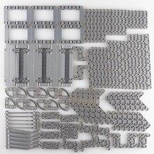 124pcs/set Technic Parts Bulk Panel Flat Frame Suspension Arm Beam Building Blocks Motor Accessories kids Toys Bricks