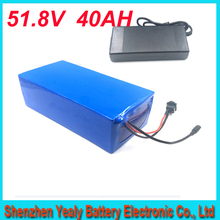 14S ebike lithium battery 51.8v 40ah lithium ion bicycle 52v electric scooter battery for kit electric bike 1500w with Charger