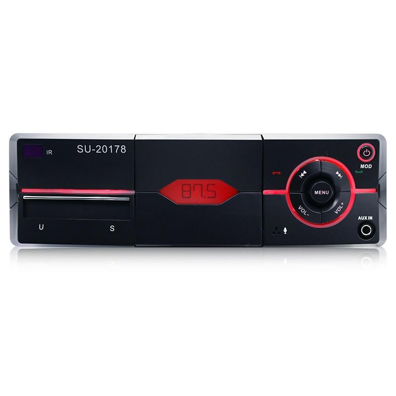 SU-20178 voiture lecteur MP3 Bluetooth appel Radio stéréo lecteur Audio avec coupure tenant téléphone fonction 1Din Radio télécommande