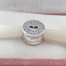 bd8226aef ZMZY 925 Sterling Silver Charms Happy Anniversary Heart. US $8.63 / piece Free  Shipping