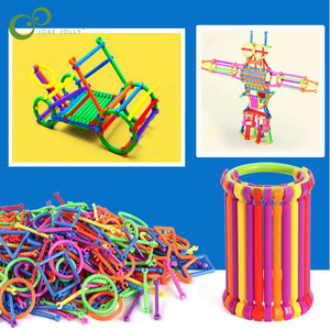 Image 1 - 65/120Pcs התאסף אבני בניין DIY חכם מקל בלוקים דמיון יצירתיות למידה חינוכית צעצועי ילדי מתנה ZXH