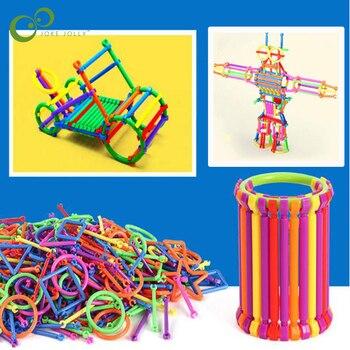65/120Pcs montowane klocki DIY inteligentne Stick bloki wyobraźnia kreatywność nauczanie edukacyjne zabawka na prezent dla dziecka ZXH