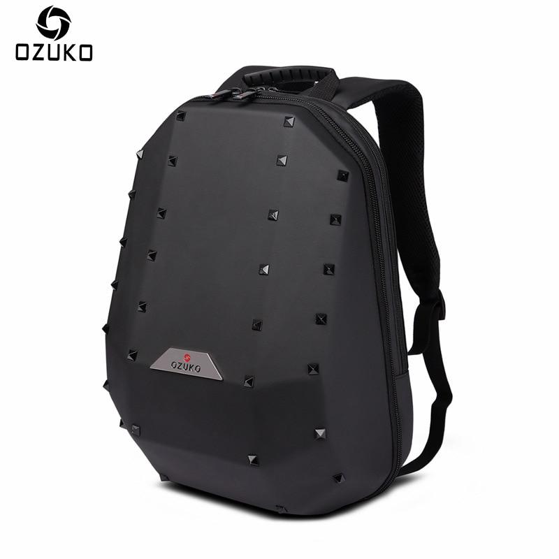 a72c8af735cf OZUKO Brand 2018 Business Men s Laptop Backpack Male Mochila Large Capacity  Casual Travel Backpack Rivet Fashion