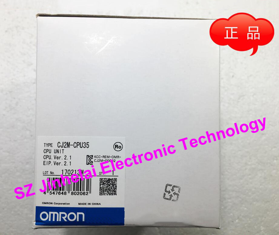 New and original OMRON  CJ2M-CPU35  CPU UNIT new and original e3x da11 s omron optical fiber amplifier photoelectric switch 12 24vdc