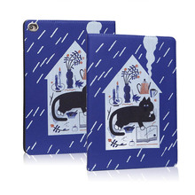 цена Case For iPad MiNi 5 2019 soft back Flip smart stand cover pu leather illustration Cute Cartoon Cat Case For New iPad Mini 5