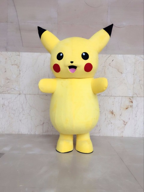 New Top Grade Deluxe  pokemon pikachu Mascot Costume Cartoon Character Costumes Mascot Costume Fancy Dress Party Suit